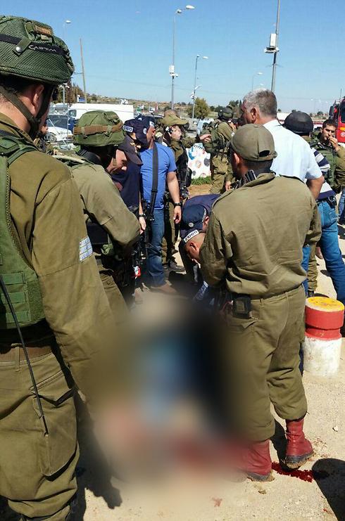 Scene of stabbing attack at Gush Etzion Junction