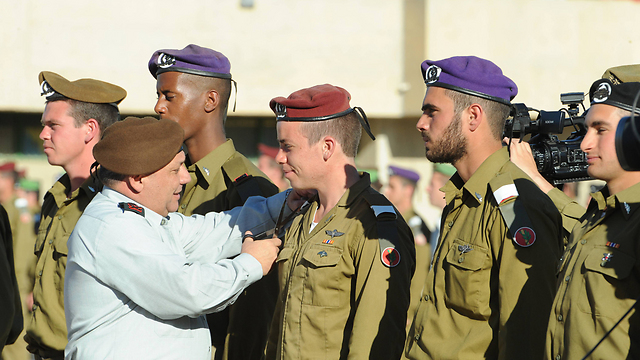 IDF Chief of Staff Gadi Eisenkot in the closing ceremony for officers course (Photo: Israel Yosef)
