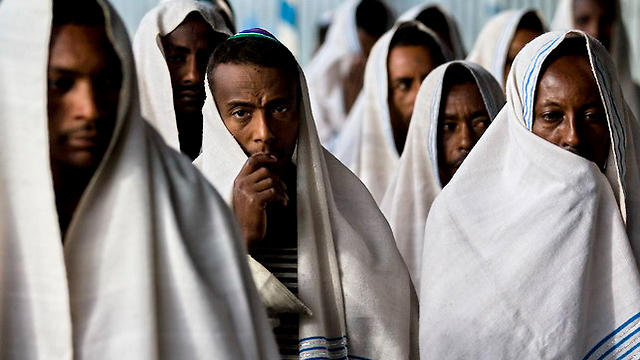 Ethiopian Jews (Photo: Nitzan Hafner)
