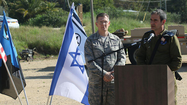 Brig.-Gen. Haimovich (R) said exercise will 'serve as an opportunity for the IAF to enhance operational capabilities in the face of high-trajectory threats' (Photo: Avi Moalem)