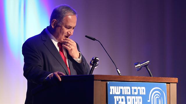 PM Netanyahu at the event. (Photo: Gil Yohanan)