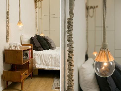 כך נראית המנורה של ''בילונגינג'' בדירה משפחתית. לחצו לכתבה המלאה (צילום: שירן כרמל)