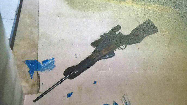 The sniper rifle (Photo: Shin Bet)