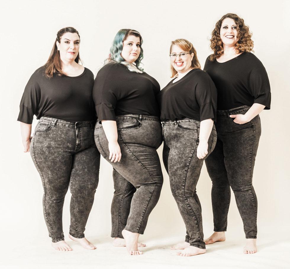 אנשים לא רגילים לראות אישה שהיא לא במידה 36. מימין: עופר גונן-סימון, מיי גרף, זהר ברטל שומרית מוסקוביץ (צילום: אביטל אפשטיין)