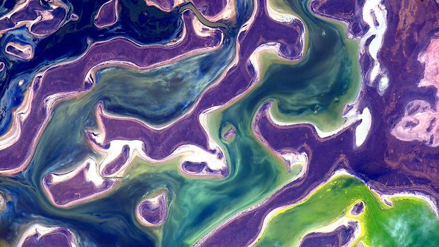 """הצבעים של כדור הארץ (צילום: סקוט קלי, נאס""""א) (צילום: סקוט קלי, נאס"""