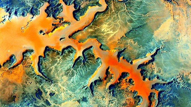 """קלי יתגעגע גם לצבעים של אפריקה (צילום: סקוט קלי, נאס""""א) (צילום: סקוט קלי, נאס"""