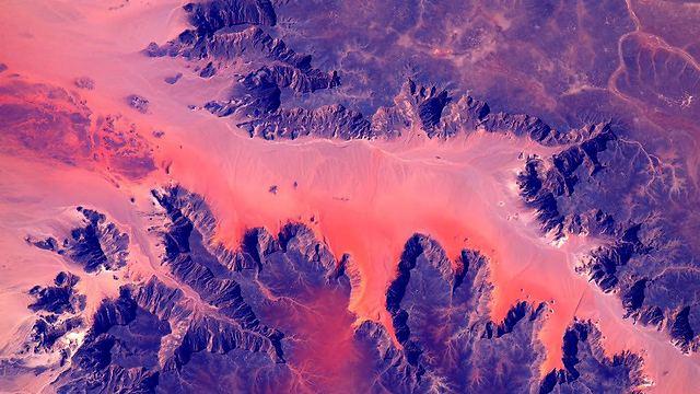 """מבט ליבשת אפריקה (צילום: סקוט קלי, נאס""""א) (צילום: סקוט קלי, נאס"""