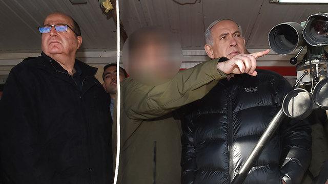 הקצין הבכיר, לצד נתניהו ויעלון (צילום: אפי שריר, ידיעות אחרונות) (צילום: אפי שריר, ידיעות אחרונות)