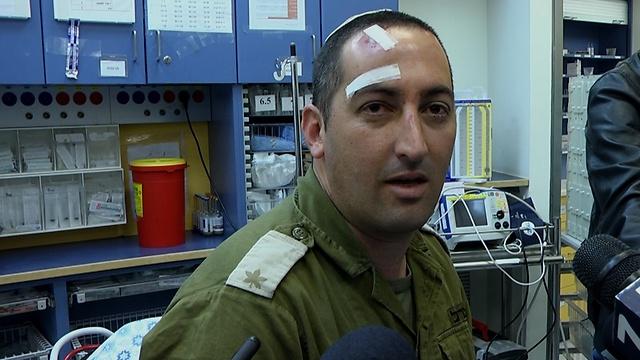 Roi Harel, lightly wounded in attack in the settlement of Eli (Eli Mandelbaum)