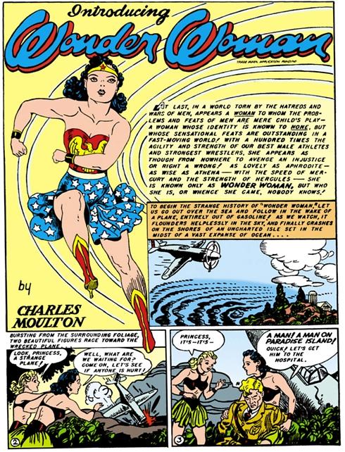 """הופעת הבכורה של וונדר-וומן. """"All Star Comics #8"""" ()"""