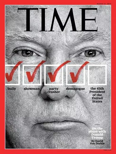 שערי העיתונים נגד המועמד הרפובליקני ()