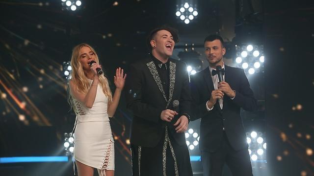 Hovi Star, middle, will represent Israel in Eurovision 2016 (Photo: Alex Kolomoisky)