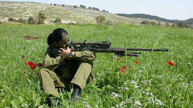 Fighter with a sniper rifle, 2000 (Photo: IDF Spokesman, courtesy of the IDF Archive)