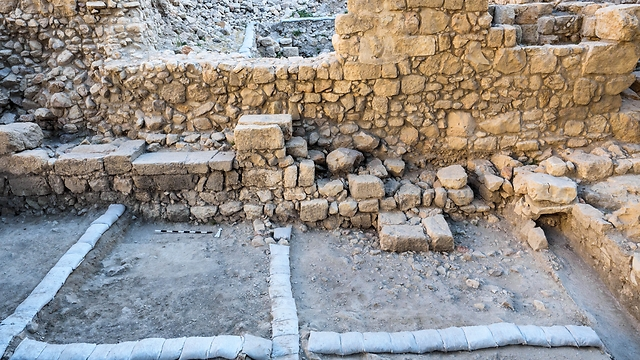 The First Temple period structure in which the seals were found (Photo: IAA)