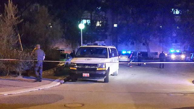 זירת הירי בבאר שבע (צילום: אילנה קוריאל) (צילום: אילנה קוריאל)