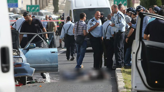 At the scene of the attack (Photo: Ohan Zwigenberg)