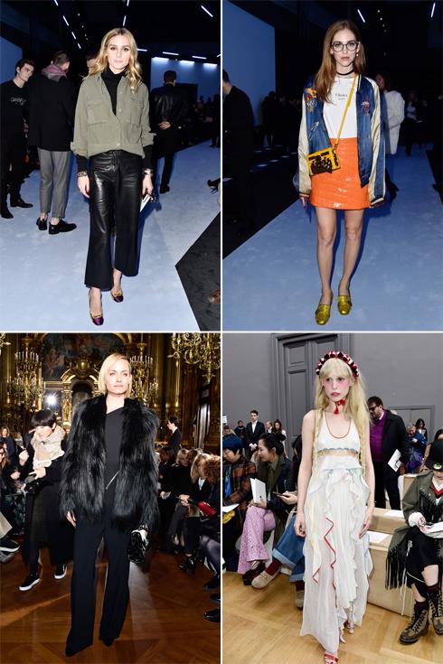 לא מפספסות את שבוע האופנה: אוליביה פלרמו, קיארה פראני, פטיט מלר ואמבר ולטה (צילום: Gettyimages)