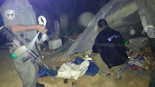 Illegal alien tents in Habesor Stream (Photo: Police spokesperson)