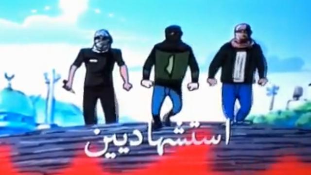 מתוך הסרטונים של חמאס שהופיעו על מסך של צופים ישראלים ()