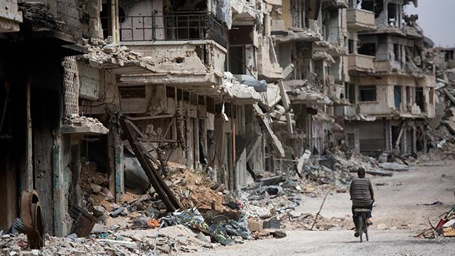 הרס בלתי נתפס. העיר הסורית חומס (צילום: AP)
