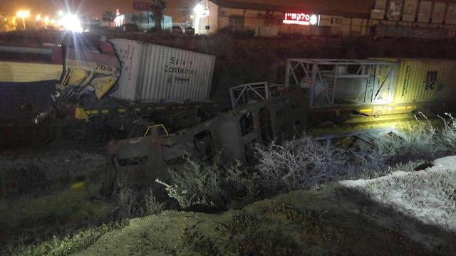 Overturned train