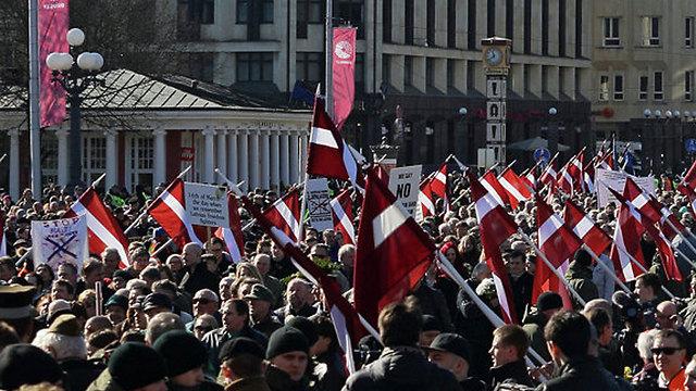 The parade in Riga last year
