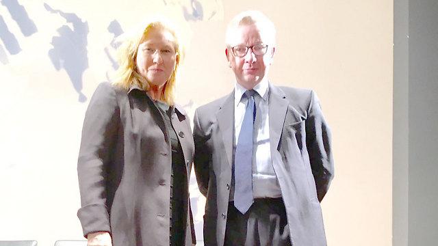 Britsh Justice Minister Gove and Tzipi Livni (Photo: Eldad Beck)