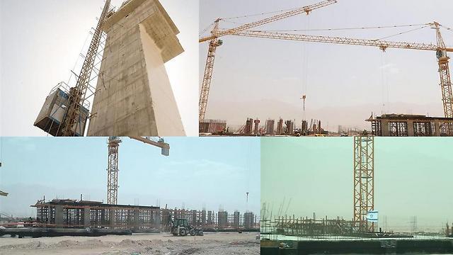 מההכנות של הקמת שדה התעופה רמון (צילום: מוטי קמחי) (צילום: מוטי קמחי)