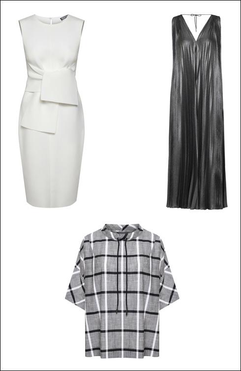 שמלת סקובה עם קשירה, 1,490 שקל; שמלת פליסה, 2,200 שקל; חולצה מקו One (בחנות המקוונת בלבד), 290 שקל (צילום: ואלרי בלקינד)