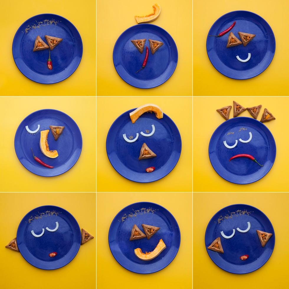 אוזני המון במילוי דלורית-בצל-צ'ילי (צילום: יעל אילן)