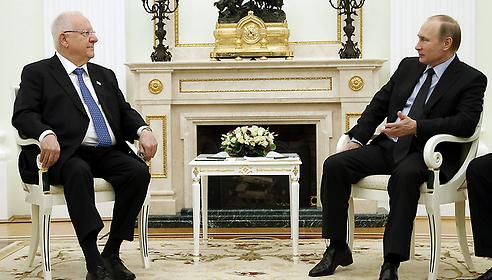 President Putin and President Rivlin, Photo:AFP