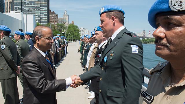 Major Conricus at the UN (Photo: UN Photo/Eskinder Debebe)
