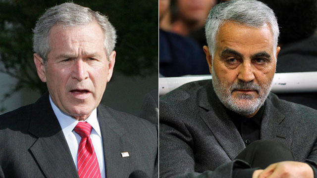 Soleimani and former US President George W. Bush (Photo: AP)