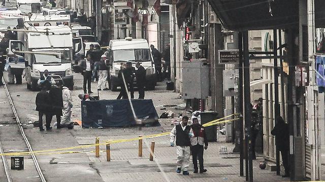 פיגוע ההתאבדות באיסטנבול במרס 2016. שלושה ישראלים נרצחו (צילום: gettyimages) (צילום: gettyimages)