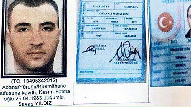 Suspected terrorist Savas Yildiz