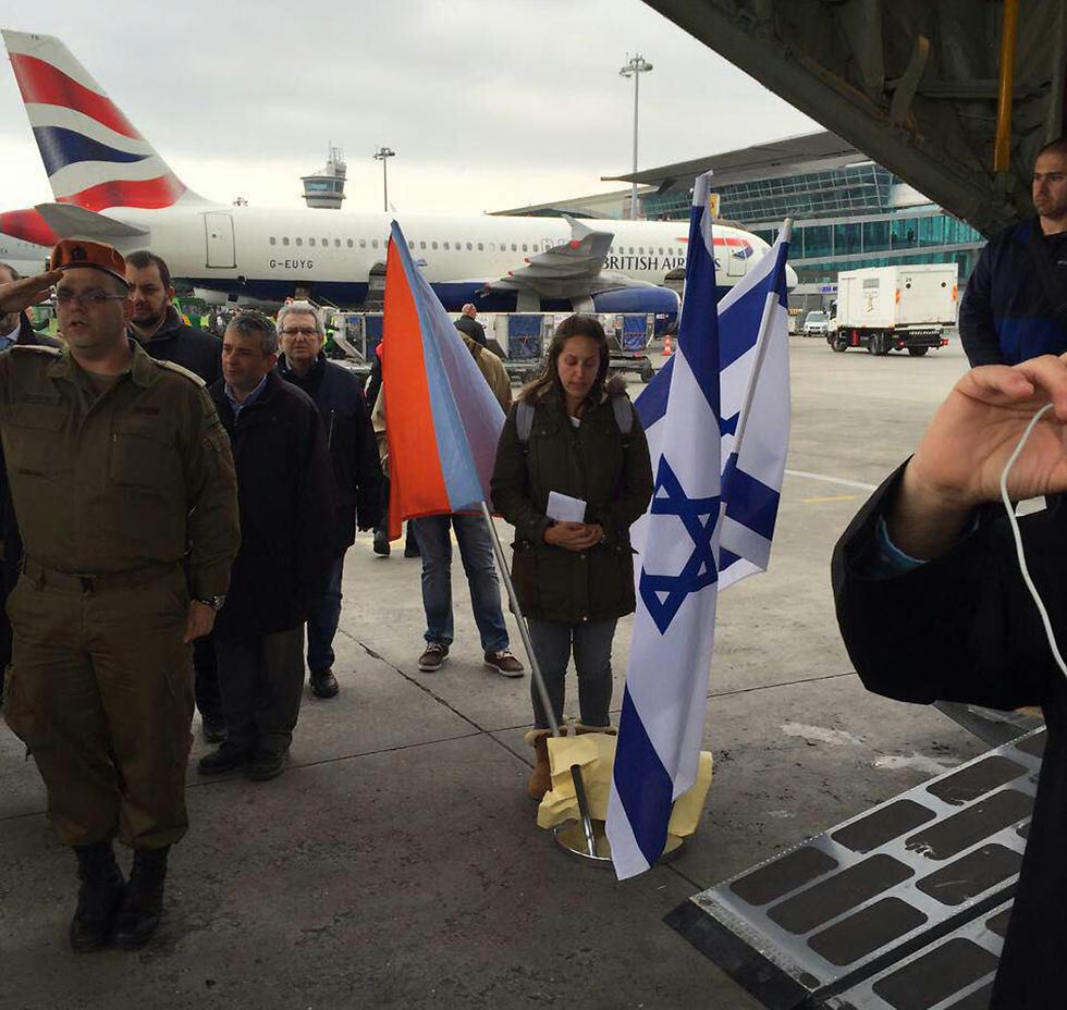Avi and Nitza Goldman's daughter in Istanbul at ceremony returning Avi's body to Israel