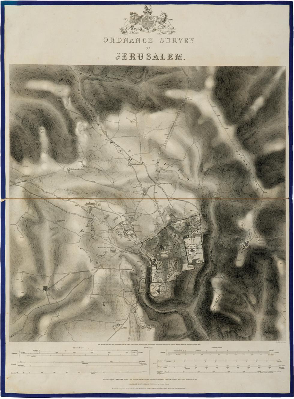 Captain Charles Wilson cartograhic survey of Jerusalem (Kedem auction house)