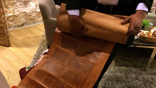 Antique Torah scroll (Photo: Arielle Di-Porto, Jewish Agency)