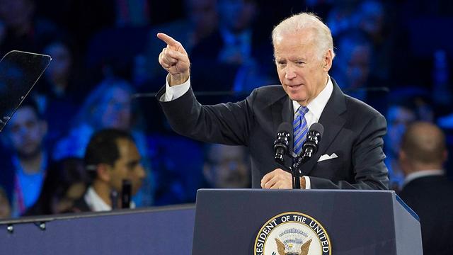 Biden at AIPAC (Photo: AFP)