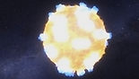 """סופו של כוכב. הדמיה (צילום הדמיה: נאס""""א)"""