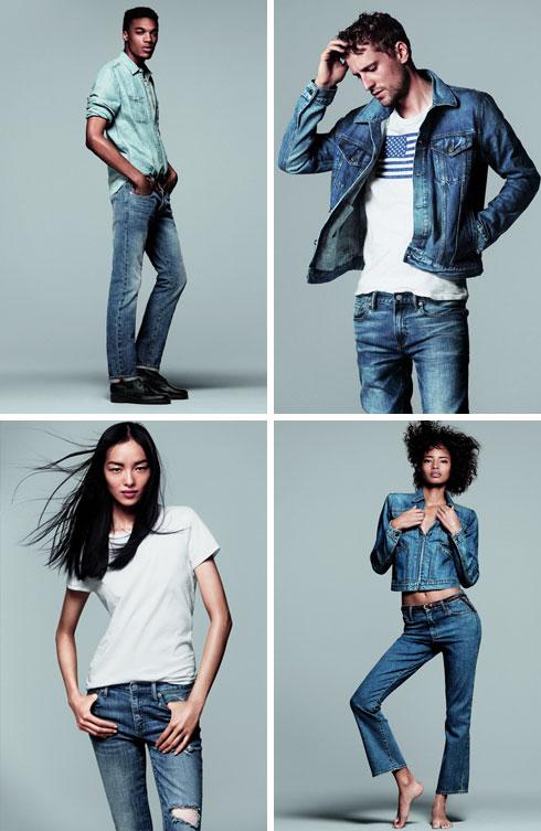גאפ. מגוון פריטי ג'ינס לנשים ולגברים (צילום: אבי ולדמן)
