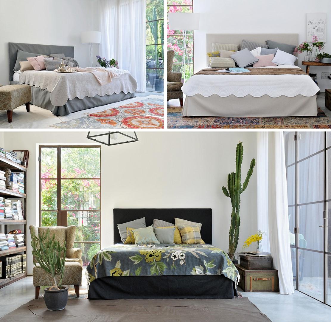 אפשר לשלב צבעוניות גם בכיסויי המיטה. חדרי שינה מעוצבים בהשראת החג של עמינח (צילום: גלעד רדט) (צילום: גלעד רדט)