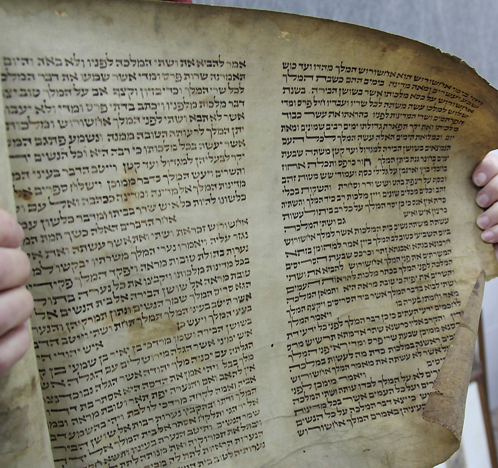 Book of Esther from the Warsaw Ghetto (Photo: Shem Olam)