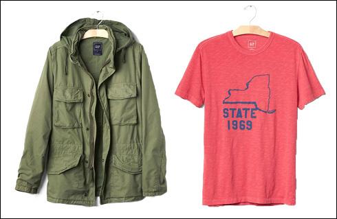 חולצת טי, 119.90 שקל; מעיל צבאי, 369 שקל (צילום: אבי ולדמן)
