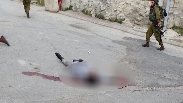 One of the terrorists neutralized at the scene of the attack.