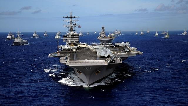 נוכחות אמריקנית בים (צילום: Gettyimages)