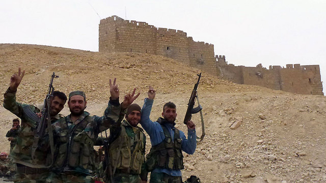 Syrian army troops in Palmyra (Photo: AFP)