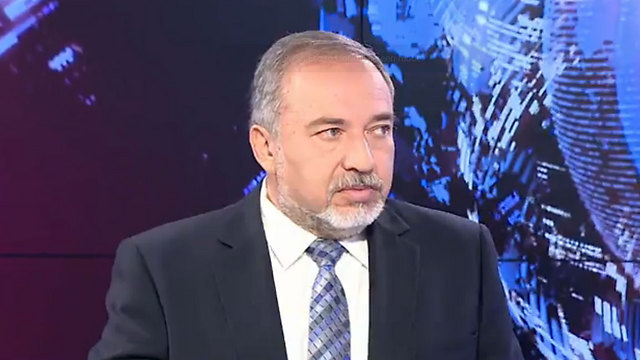 Lieberman at the Ynet studio.