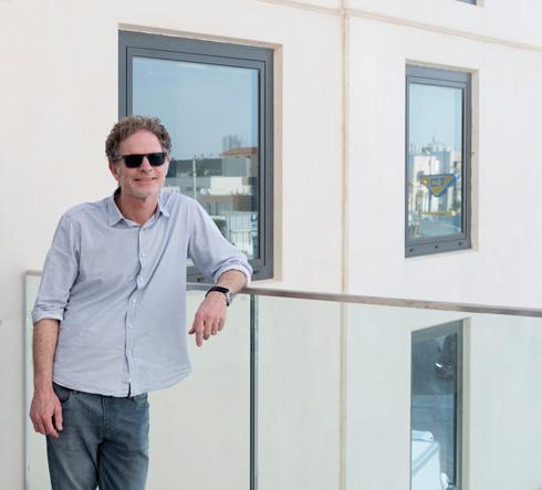 אדריכל גידי בר אוריין: ''יראו הרבה מנופים בעוד שלוש שנים'' (צילום: גדעון לוין)