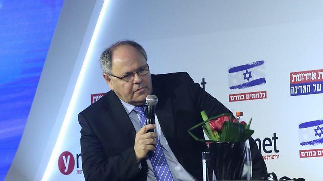 דני דיין בוועידה (צילום: מוטי קמחי) (צילום: מוטי קמחי)